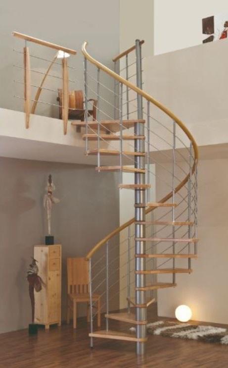 Escalier Metal Et Hetre