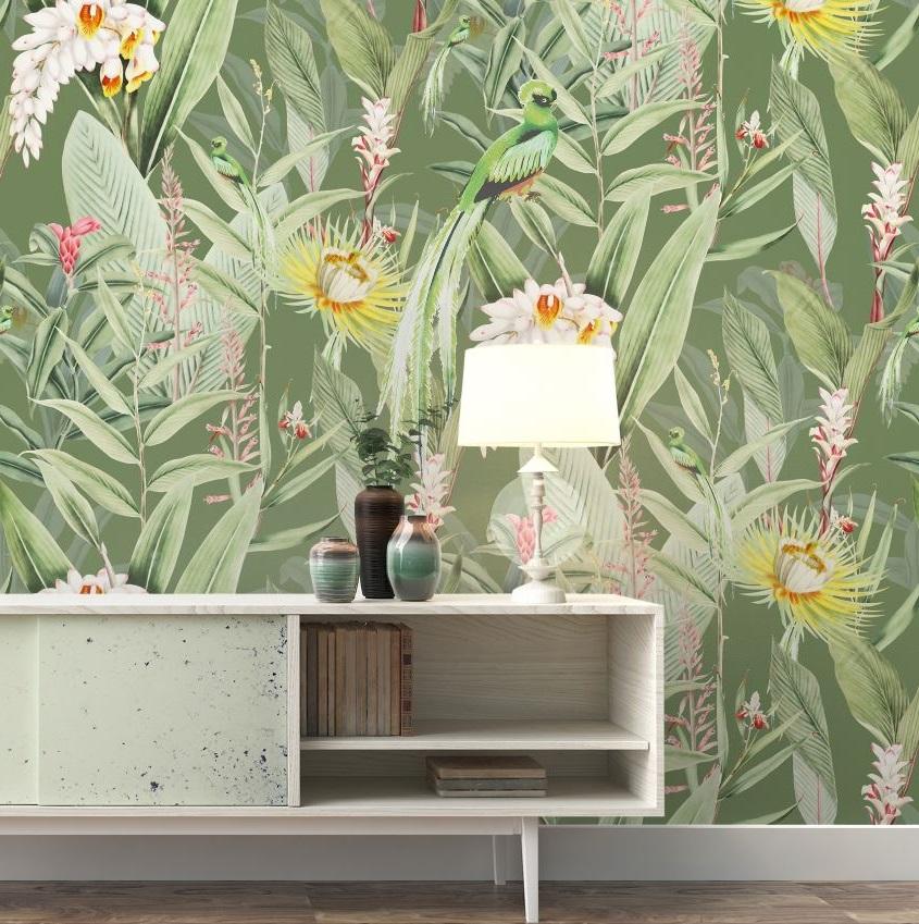 Fleurs Jardin Tropical Vert Sauge