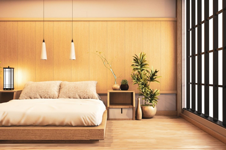 Le Bois Mis En Avant Dans Une Chambre Japonaise