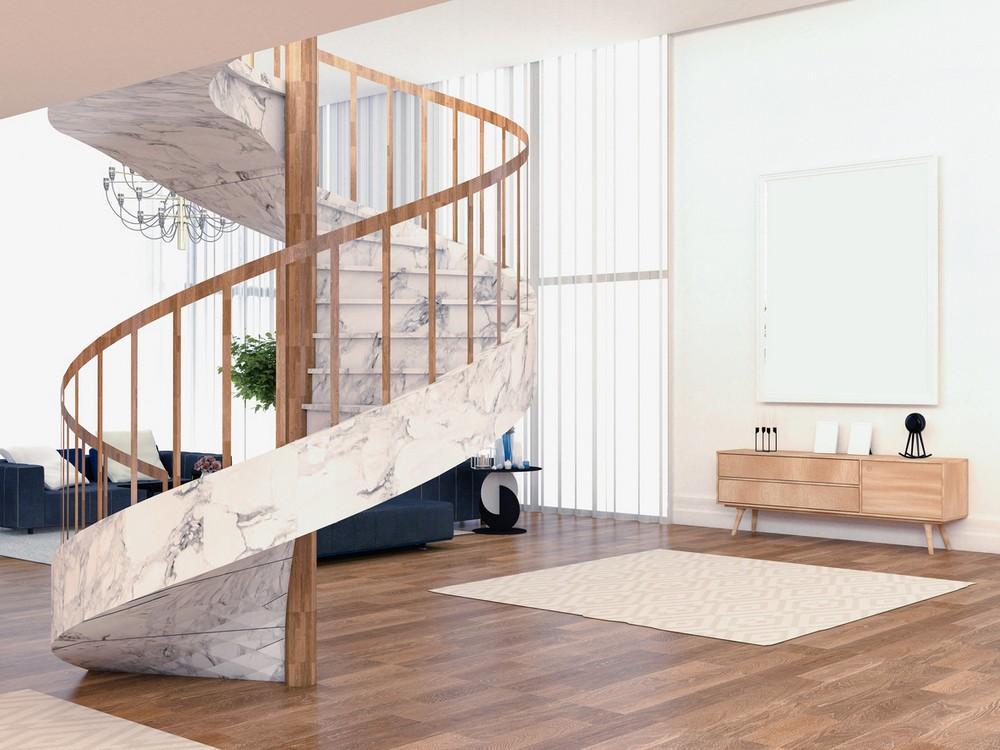 Escalier Colimaçon Effet Marbre