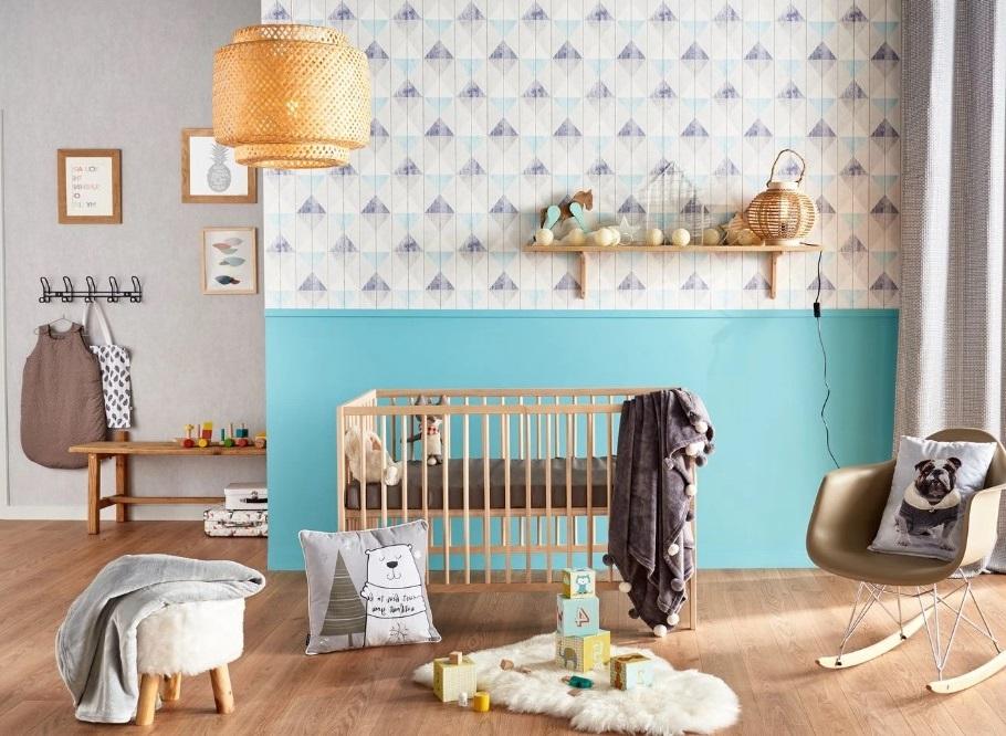 Une Chambre D'enfant Dans Les Tons De Bleu