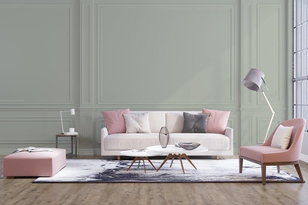 Salon Vert De Gris Et Rose –