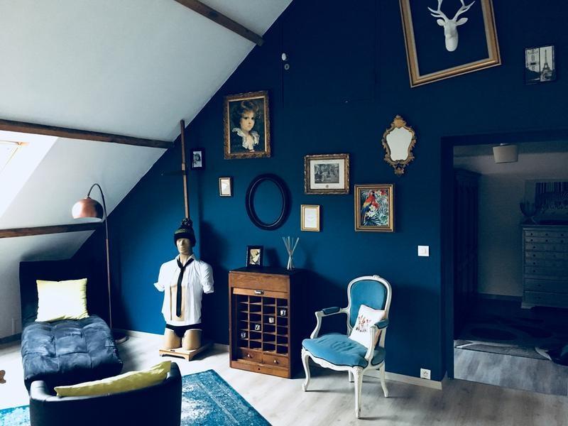 Bleu Paon Et Blanc