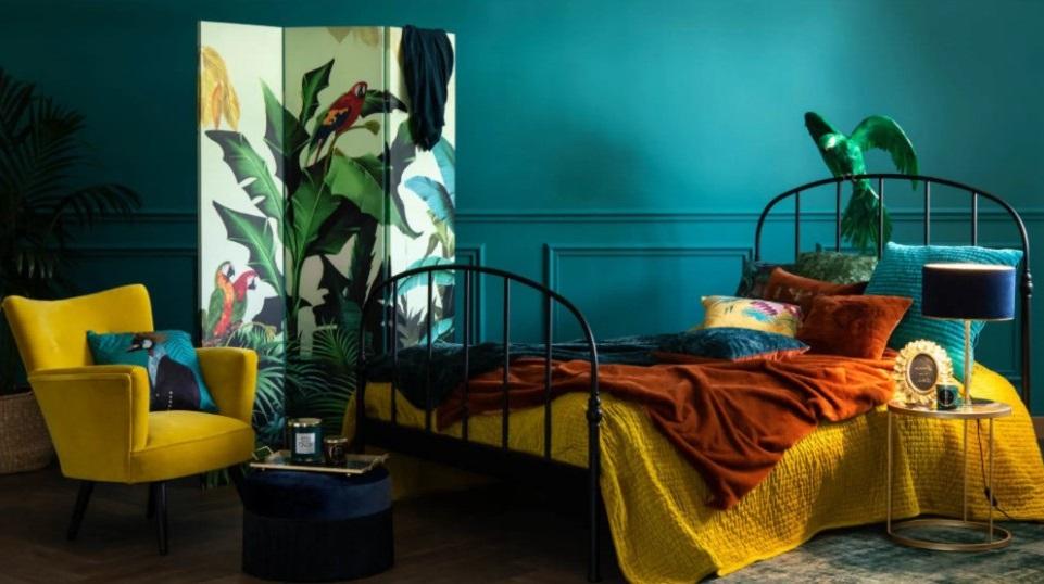 Chambre Tropicale Avec Paravent Santana