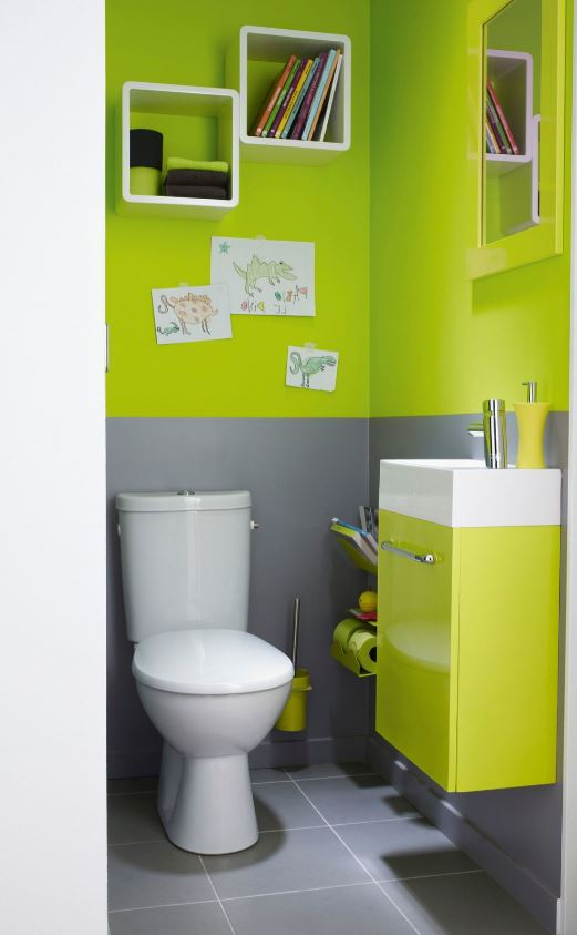 Mur Et Mobilier Vert Fluo