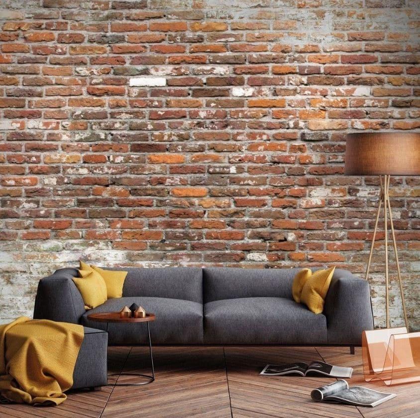 Papier Peint Panoramique Mur De Brique