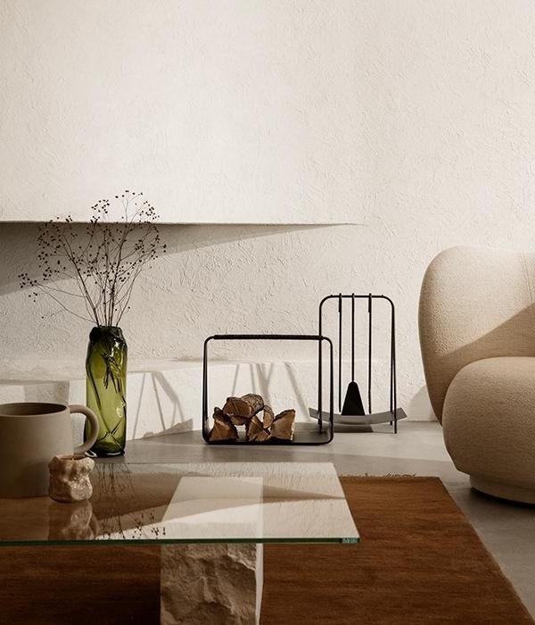 Salon Beige Et Blanc Organique