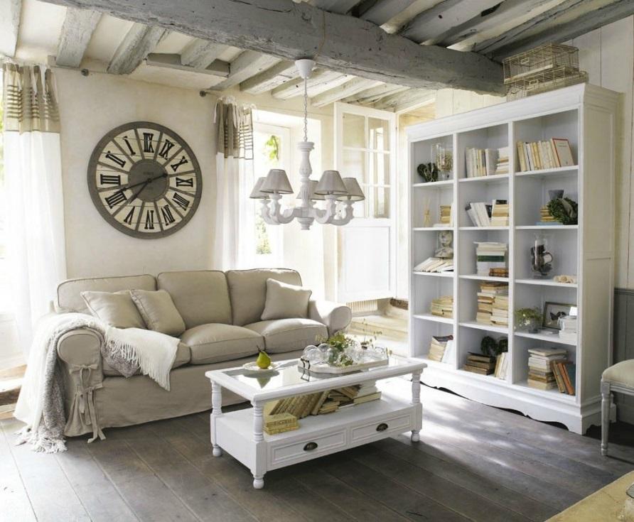 Salon Blanc Et Beige Campagne Chic