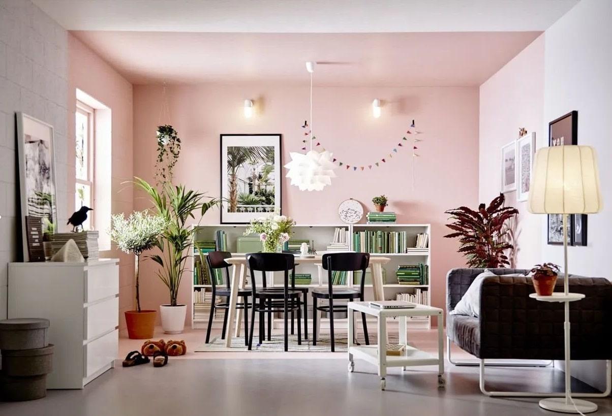 Rose Pastel Pour Structurer L'espace