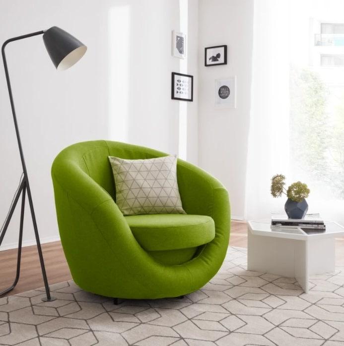 Fauteuil Design Vert Pomme