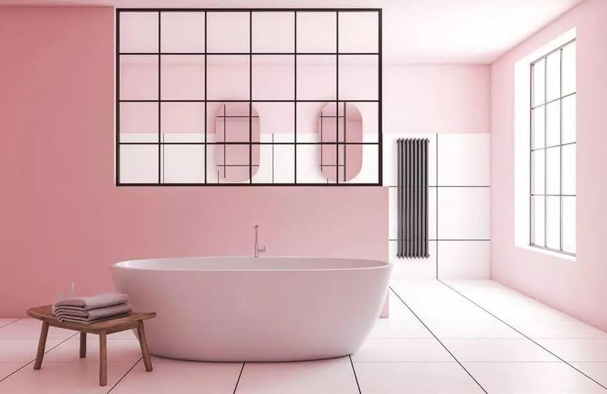 Salle De Bain Contemporaine Rose Pastel