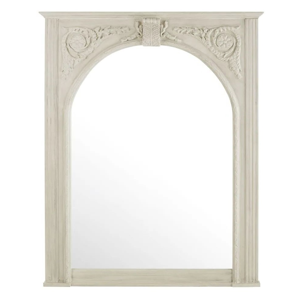 Grand Miroir A Moulures Blanc Charles