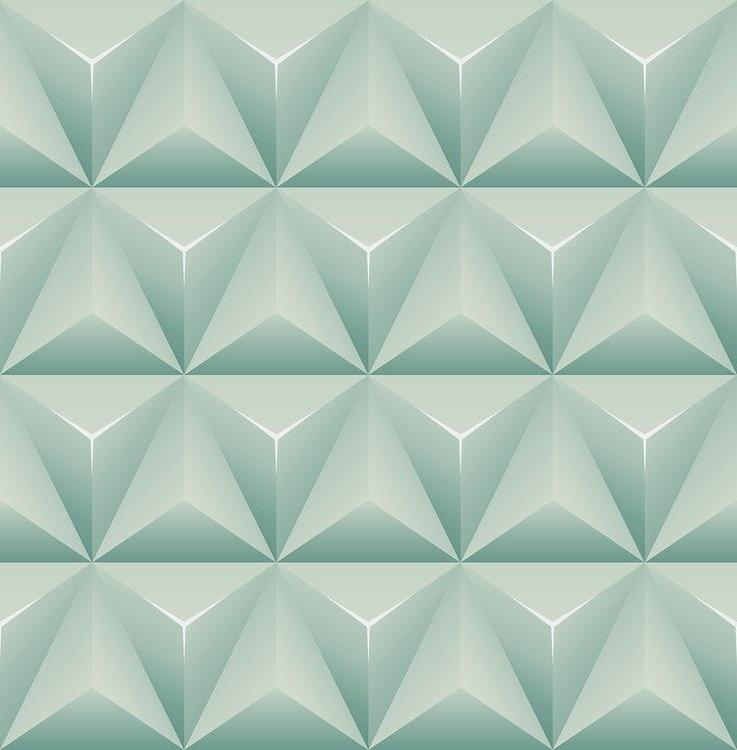 Papier Peint Pyramide Vert –