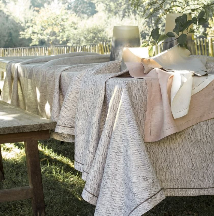 Nappe En Lin Rose Pale