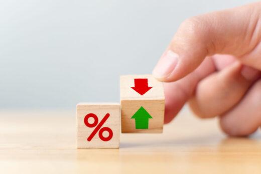 illustration de taux d'intérêt financiers et de taux hypothécaire