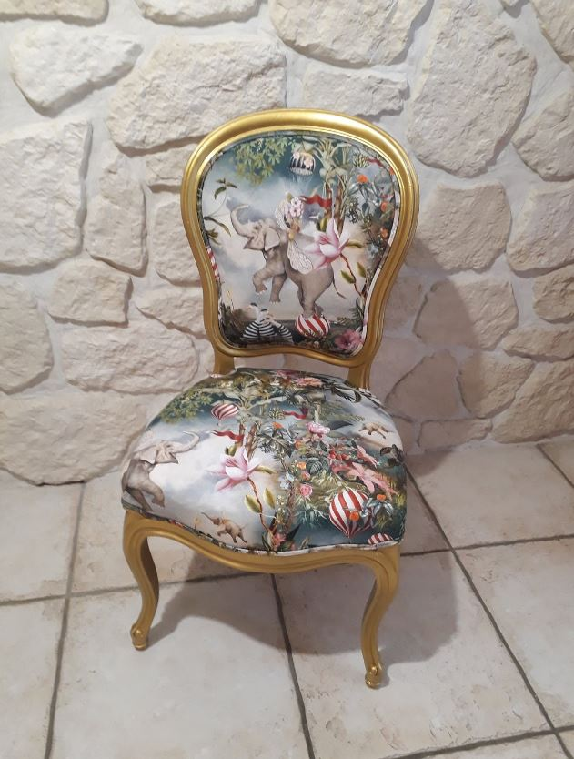 Chaise Louis Xvi Relookee Etsy
