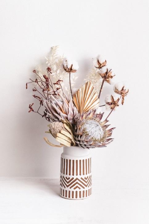 Fleur De Coton Et Fleurs Sechees