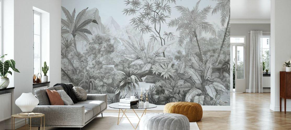 Motif Jungle Monochrome