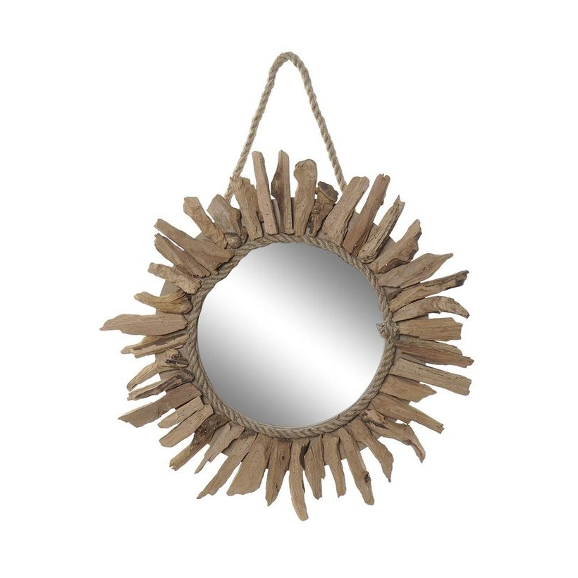 Petit Miroir à Suspendre En Bois Flotte