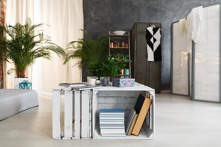 Une Table Basse Avec Des Cagettes
