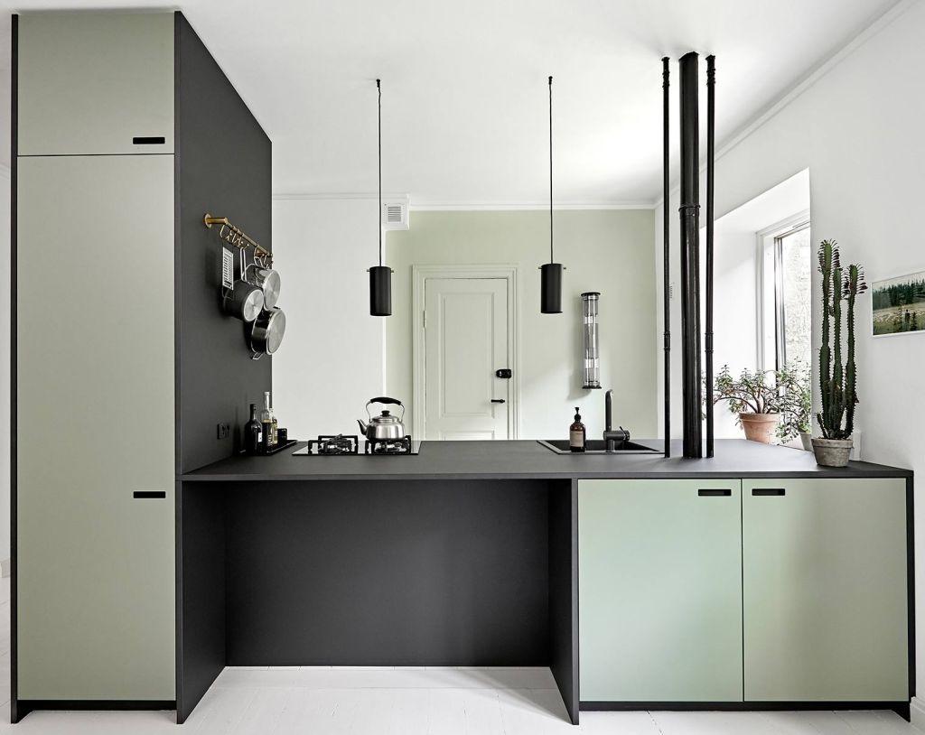 Vert Pale Et Noir