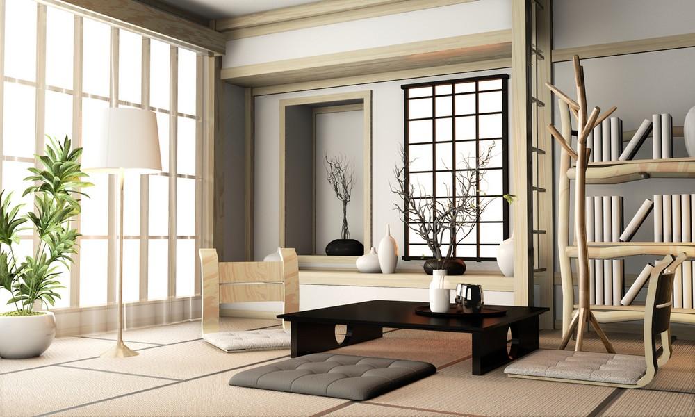 Un Salon Japonais Contemporain