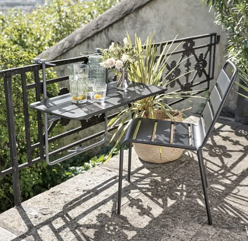 Table De Balcon Gris Ardoise