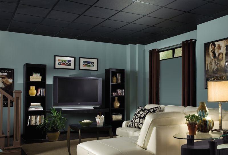 Plafond Noir Et Couleur Froide