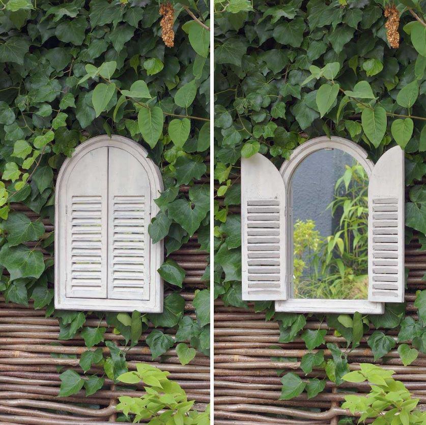 Miroir De Jardin Avec Volets