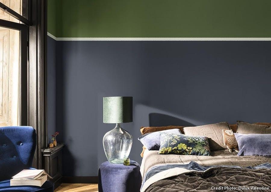 Gris Fonce, Bleu Et Vert Profonds