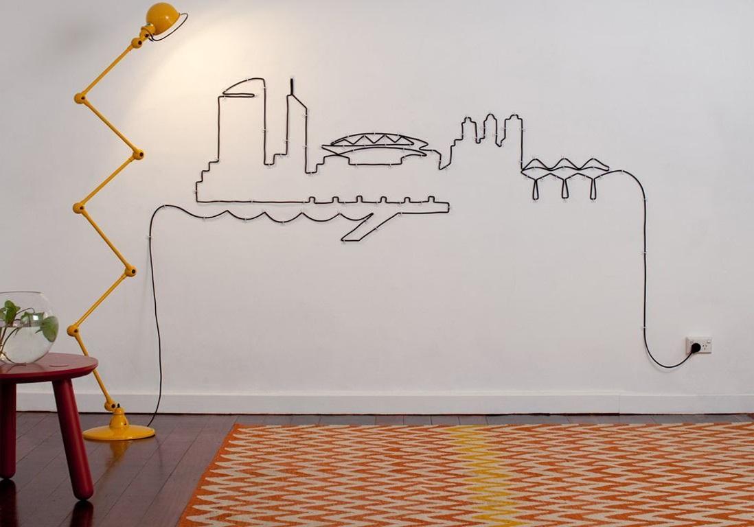 Une Oeuvre D'art Au Mur