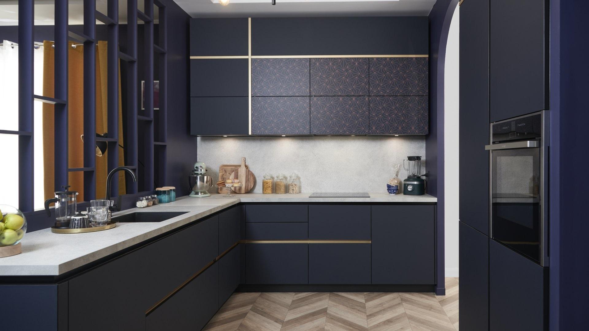 Bleu Dans Un Interieur Neo Art Deco