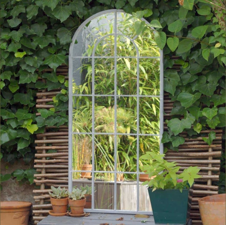 Miroir De Jardin Façon Porte De Verriere
