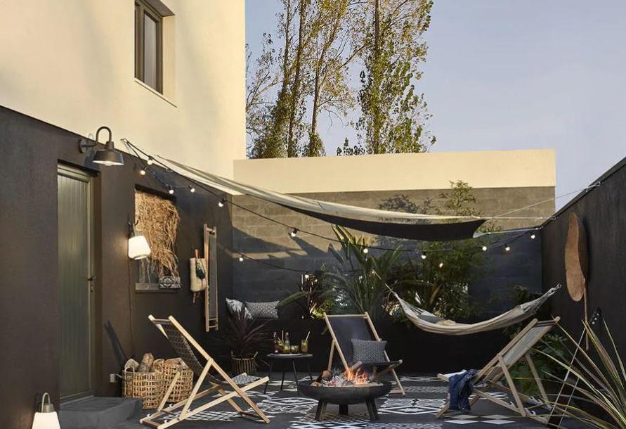 Terrasse Total Look Noir