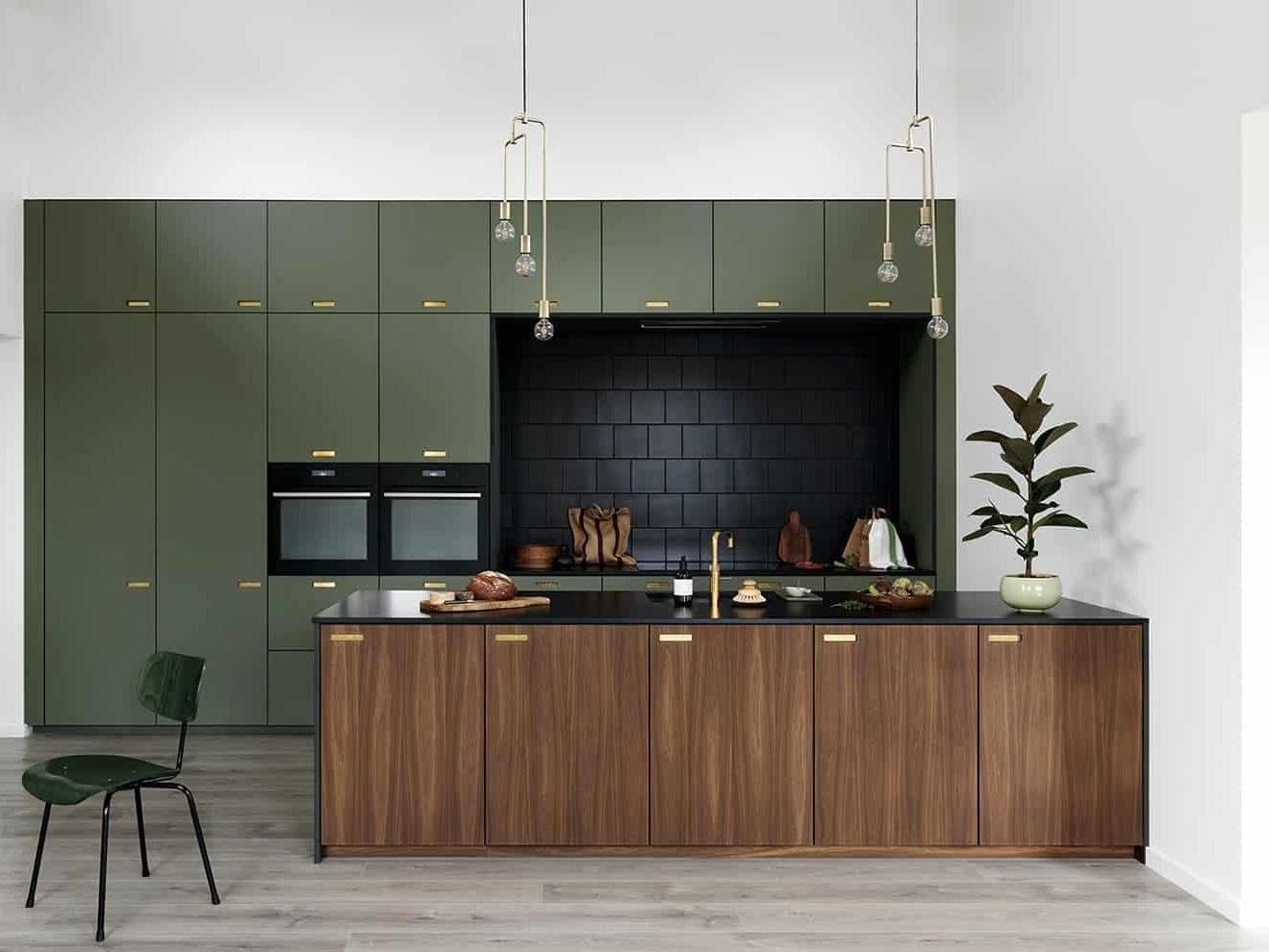 Vert Olive Et Bois Esprit Mid Century