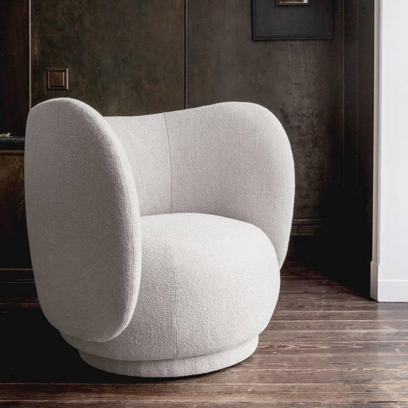 Fauteuil Bouclette Lounge Rico