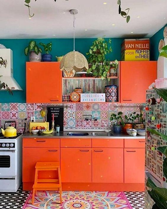 Une Cuisine Boheme Orange