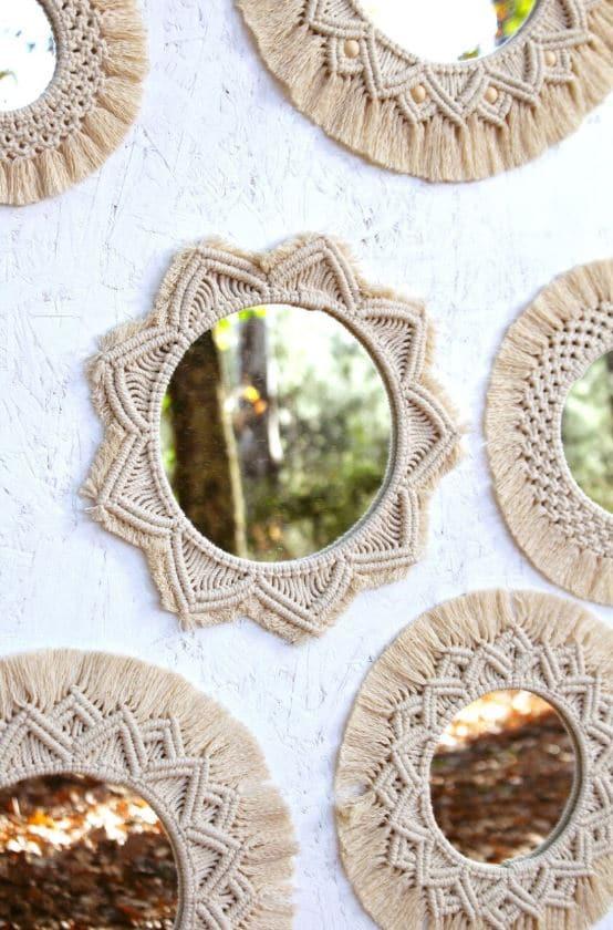 Miroirs En Macrame