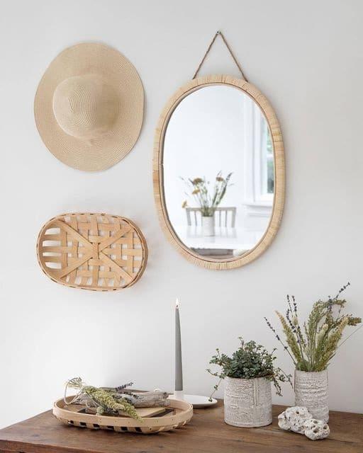 Miroir Et Fibres Naturelles