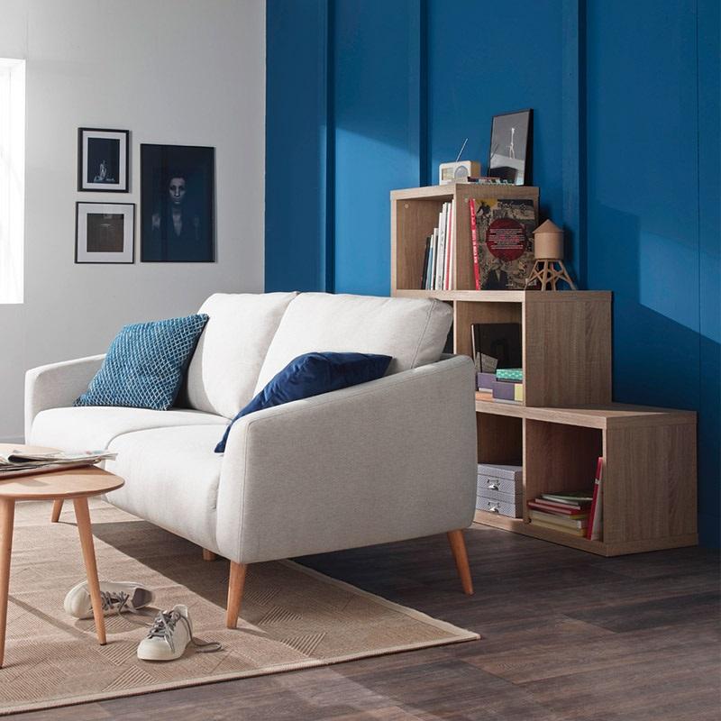 Un Mur D'accent Bleu Electrique