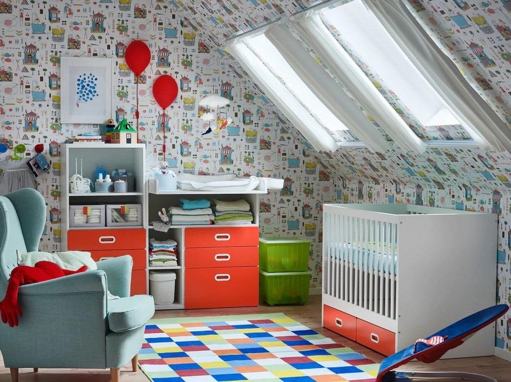 Une Chambre De Bebe Sous Pente