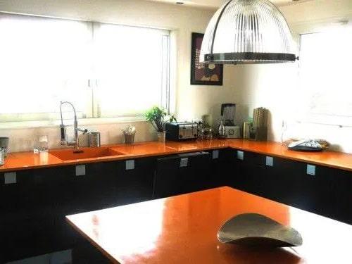 Plan De Travail Orange Beton Laque