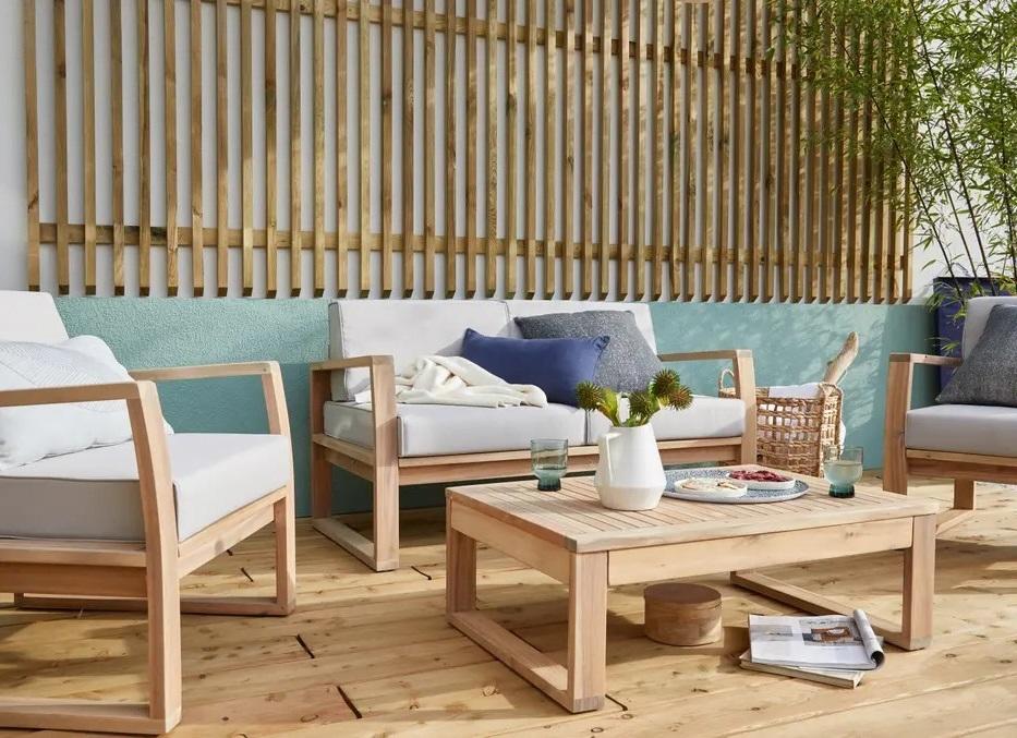 Un Salon De Jardin Design En Bois