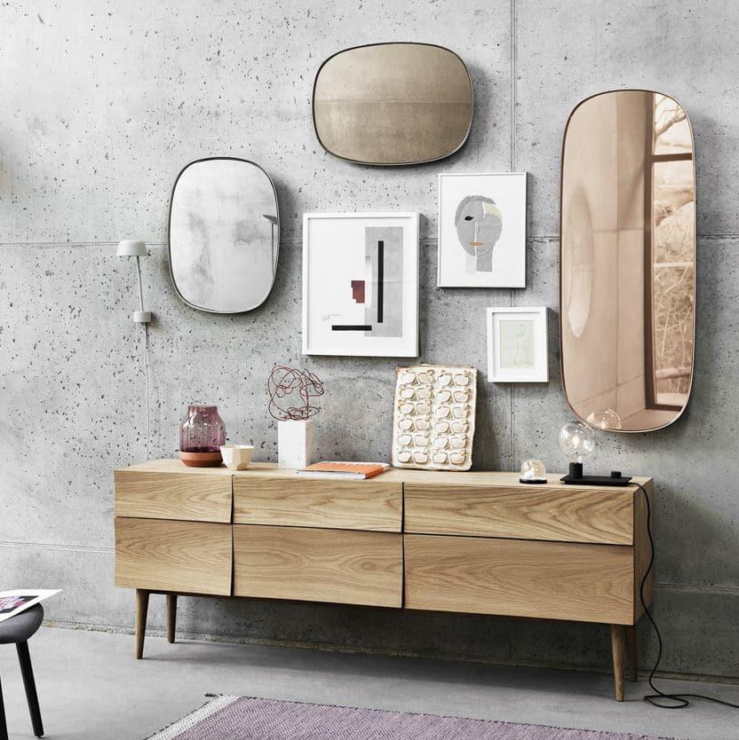Mix Cadres Et Miroirs Organiques