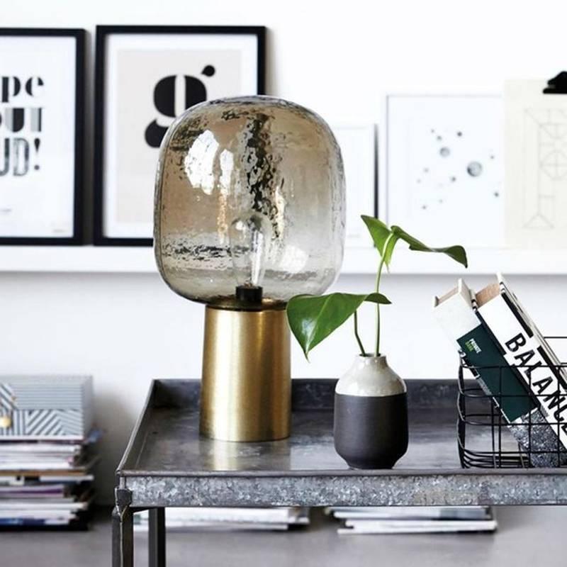 Lampe Metal Et Verre Design Mid Century